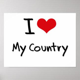 I love My Country Print