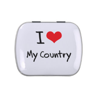 I love My Country Jelly Belly Tins