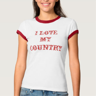 I love my country tees