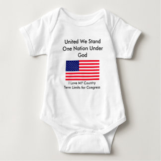 I Love MY Country Term Limits for Congress Baby Bodysuit