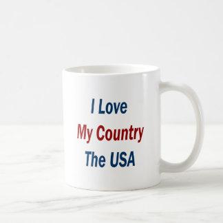 I Love My Country The USA Coffee Mugs