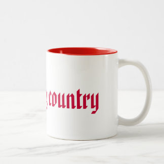 I Love My Country Two-Tone Coffee Mug