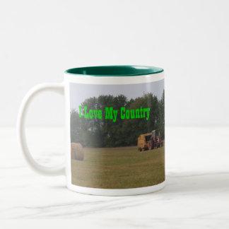 I Love My Country! Two-Tone Mug