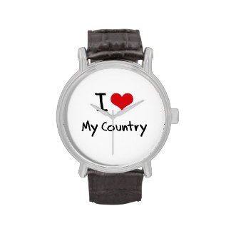 I love My Country Wrist Watches