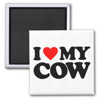 I LOVE MY COW REFRIGERATOR MAGNET