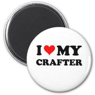 I Love My Crafter Refrigerator Magnets