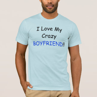 I Love My Crazy BOYFRIEND and Back Red Logo T-Shirt