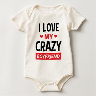 I Love My Crazy Boyfriend Funny Quote T Shirt