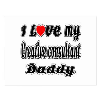 I Love My Creative consultant Mom Postcard