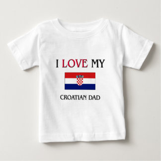 I Love My Croatian Dad Shirt