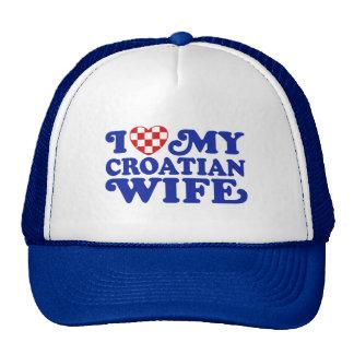 I love My Croatian Wife Cap