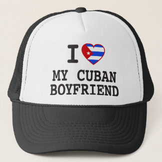 I love My Cuban Boyfriend with Cuban Flag Heart Trucker Hat