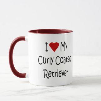 I Love My Curly Coated Retriever Dog Lover Gifts Mug