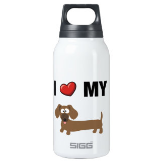 I love my dachshund 0.3L insulated SIGG thermos water bottle