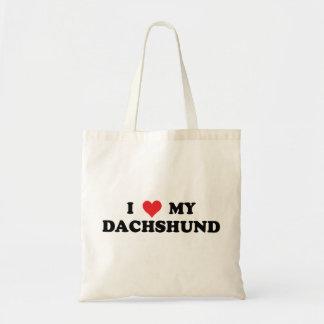 I Love My Dachshund Bag