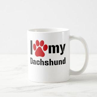 I Love My Dachshund Basic White Mug