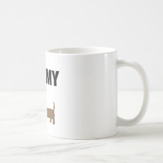 I love my dachshund basic white mug