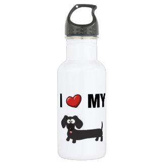 I love my dachshund (black) 532 ml water bottle