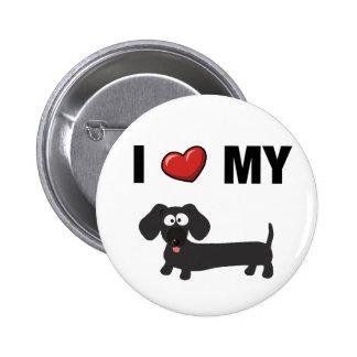 I love my dachshund black button