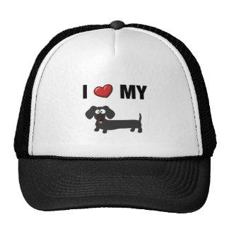 I love my dachshund (black) mesh hat