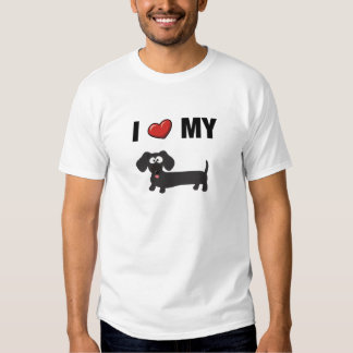 I love my dachshund (black) shirt