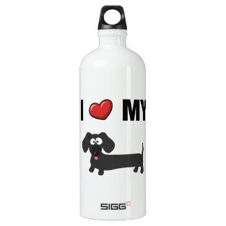 I love my dachshund (black) SIGG traveller 1.0L water bottle