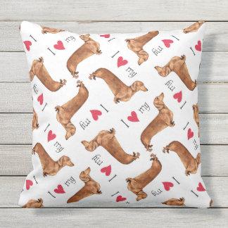 I Love my Dachshund Cushion