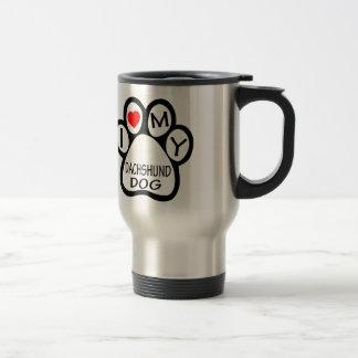 I Love My Dachshund Dog Coffee Mug