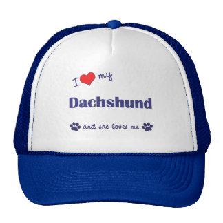 I Love My Dachshund (Female Dog) Hats