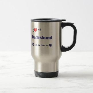 I Love My Dachshund (Female Dog) Coffee Mugs