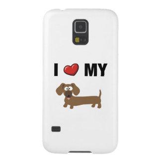 I love my dachshund galaxy s5 cases