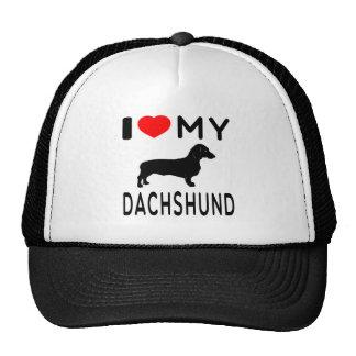 I Love My Dachshund. Mesh Hats