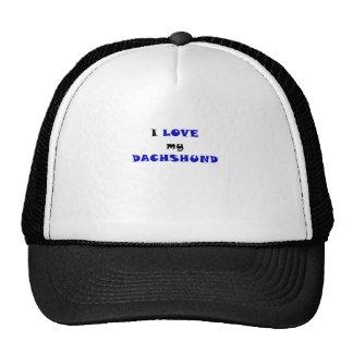 I Love my Dachshund Hat
