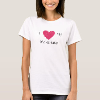 I Love My Dachshund Heart T-shirt for Dog Lovers