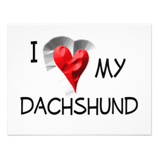 I Love My Dachshund Personalized Invitations