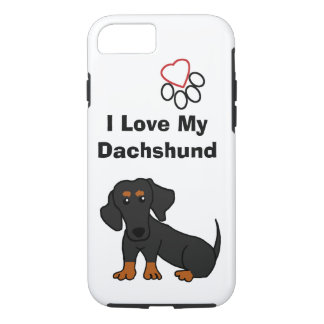 I Love My Dachshund iPhone 7 Case