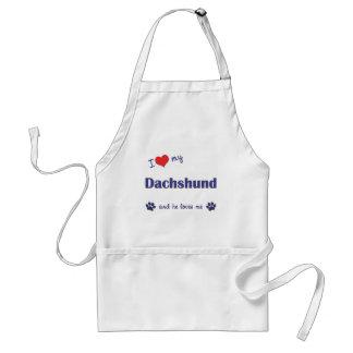 I Love My Dachshund Male Dog Aprons