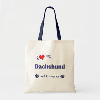 I Love My Dachshund Male Dog Bag