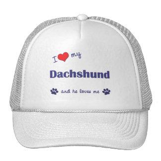 I Love My Dachshund (Male Dog) Trucker Hat