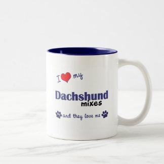 I Love My Dachshund Mixes Multiple Dogs Coffee Mug