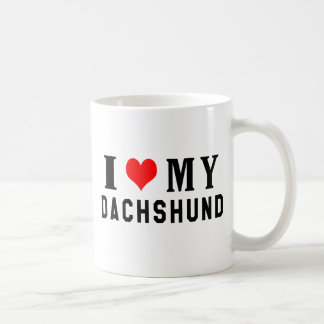 I Love My Dachshund Coffee Mugs