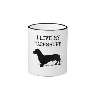 I Love My Dachshund Coffee Mug