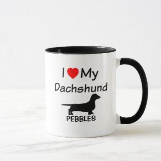 I Love My Dachshund Mug