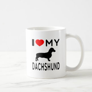 I Love My Dachshund. Coffee Mugs