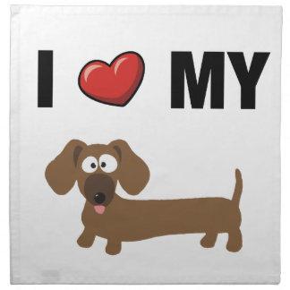 I love my dachshund napkin