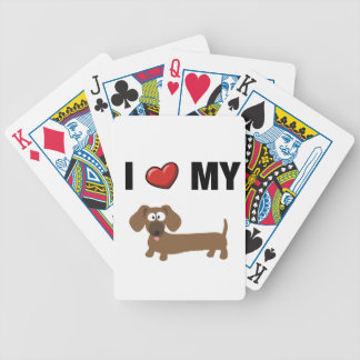 I love my dachshund bicycle playing cards