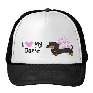 I Love My Dachshund (smooth coat) Mesh Hat
