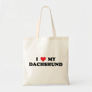 I Love My Dachshund Budget Tote Bag