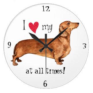 I love my Dachshund Wall Clocks