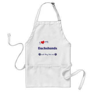 I Love My Dachshunds Many Dogs Aprons